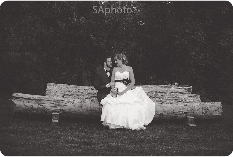 099-wedding-couple-sitting-on-log